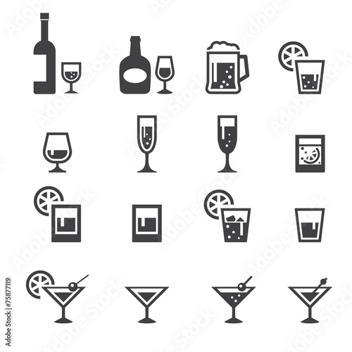 alcohol drink icon - 75877119