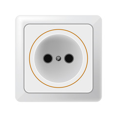 White outlet on a white background. Raster
