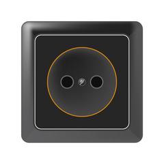 Black socket on a white background. Raster