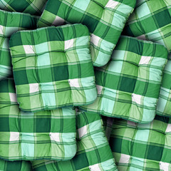 Plaid Green Cushions