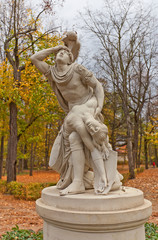 Tancred and Clorinda statue (copy of 1791) in Warsaw, Poland