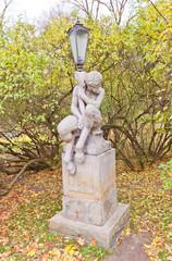 Faun lantern in Lazienkowski Park of Warsaw, Poland