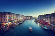 canvas print picture - Grand Canal in sunset time, Venice, Italy