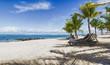 Plage de sable blanc à l'ile Maurice