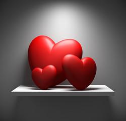 mensola con cuore