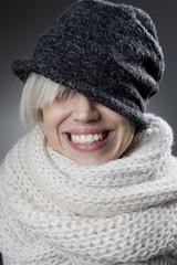 Cool stylish winter woman portrait