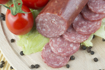 tasty salami background
