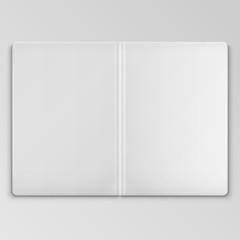 White Open Book Cover Template