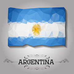 Vector geometric polygonal Argentina flag.
