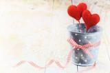 Fototapety Decorative hearts in retro style