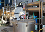 distillation of essential oils in factory