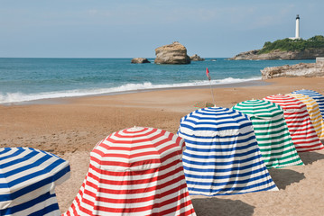 The beach in Biarritz, France