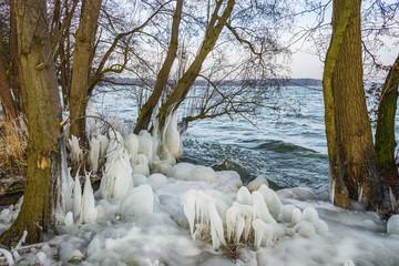 Eisskulpturen am See