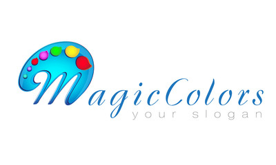 Logo, palette, paint, art, gallery