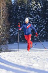 Training auf Langlauf-Skiern