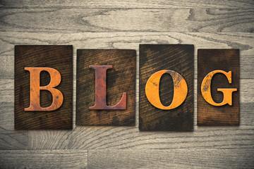 Blog Concept Wooden Letterpress Type