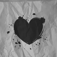 Splattered black heart