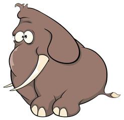 A elephant calf cartoon