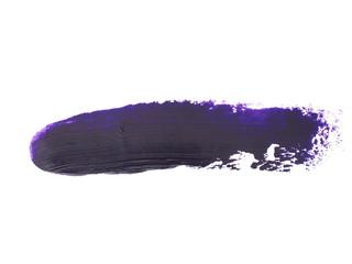 indigo blue grunge brush strokes oil paint isolated on white