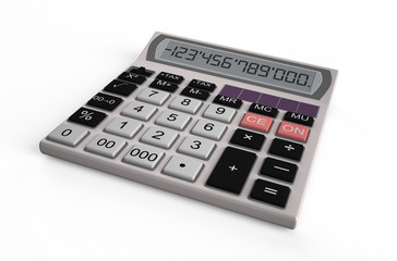 electronic white  calculator