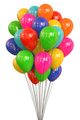 Colorful Balloons. Clipping path included.