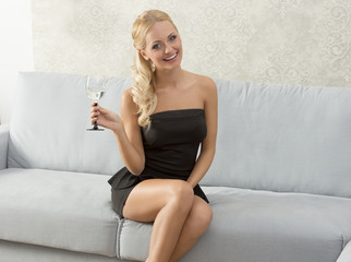 Elegant, smiling woman