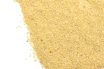 Yellow millet. Background. Photo.
