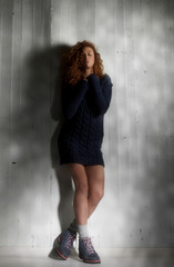 Beautiful girl with sweater.