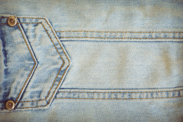 jeans denim clothing with metal button on clothing textile indus