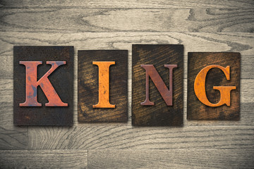 King Concept Wooden Letterpress Type