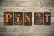 Leinwanddruck Bild - Pin It Concept Wooden Letterpress Type
