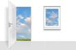 canvas print picture - Tür 57