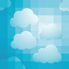 background design with cloudy bright sky