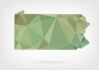 Low Poly map of Pennsylvania state