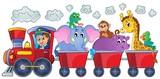 Train with happy animals - 75887783