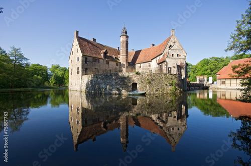 Leinwanddruck Bild Burg Vischering in Lüdinghausen Münsterland, Deutschland
