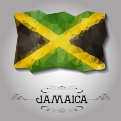 Vector geometric polygonal Jamaica flag.