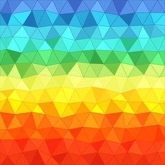 Abstract background of different color triangles