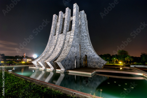 Kwame Nkrumah Memorial Park at night - Accra, Ghana - 75892332