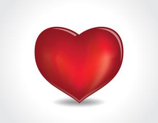 emboss heart vector illustration