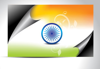 indian flag wrap concept