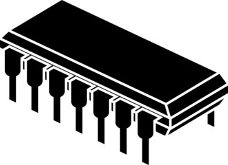 stencil of chip. first variant
