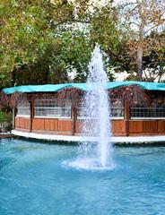 Fountain near the cafe