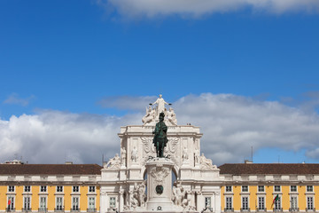 Rua Augusta Arch and Statue of King Jose I in Lisbon