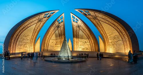 Deurstickers Artistiek mon. Pakistan Monument Islamabad