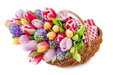 Blumen und Korb