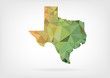 Low Poly map of Texas state