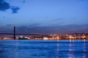 Lisbon River View at Night