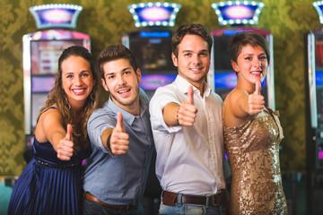 Successful Friends at Casino