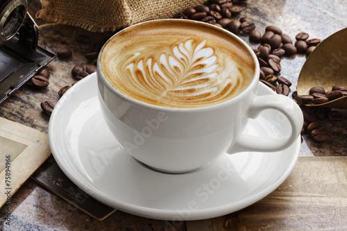 Papiers peints Salle de cafe Caffe Latte